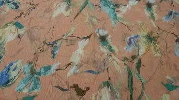 Γκοφρέ μουσελίνα σομών με λουλούδια