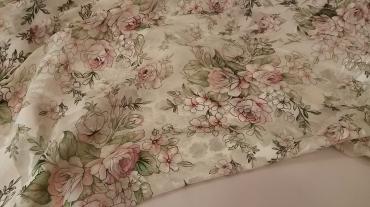 Μεταξωτό ντεβορέ Ιταλίας ρόζ παστέλ με λουλούδια