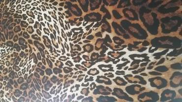 Animal print βισκόζ γεμάτο